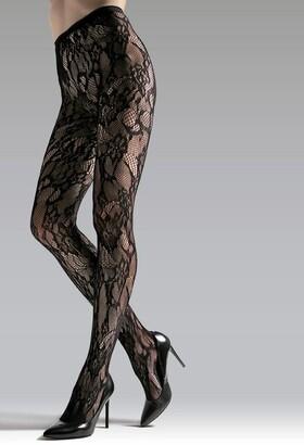 Natori Lace Cut-Out Net Tights