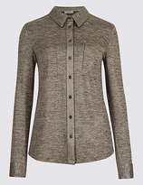 Per Una Metallic Long Sleeve Shirt