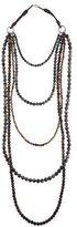 Brunello Cucinelli Jasper & Wood Multistrand Necklace