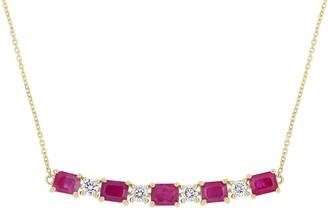 Bellini 14K Gold 2.60 cttw Ruby & Diamond Necklace