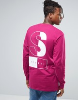 Stussy Long Sleeve T-shirt With Two Tone Back Print