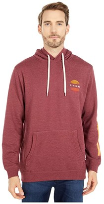 Rip Curl Surf Revival Hoodie (Burgundy) Men's Clothing