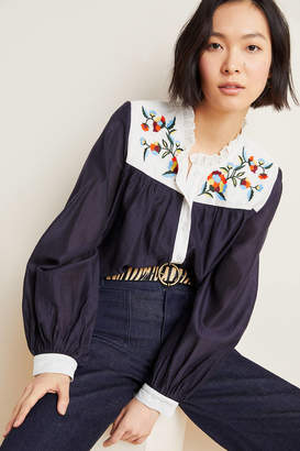 Samant Chauhan Brooke Embroidered Blouse