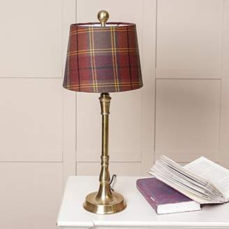 Brass Lamp with Red Tartan Shade - A Lovely Way To Add A Rustic Woodland Theme In Any Room