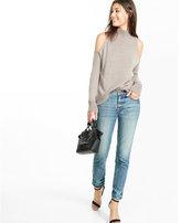 Express cold shoulder mock neck sweater