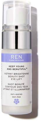 REN Keep Young and Beautiful Instant Brightening Beauty Shot Eye Lift, 0.5 oz./ 15 mL