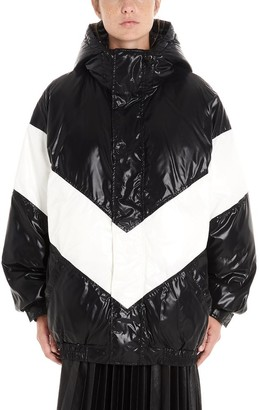 Givenchy Contrasting Panelled Hooded Down Coat
