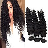 "Echo Beauty Malaysian Deep Wave Virgin Human Hair Extensions 7A 3 Bundles Unprocessed Natural Color 18"" 20"" 22"""