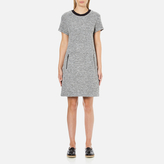 Karl Lagerfeld Women's Bonded Tweed Jersey Dress Grey Melange