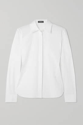 Theory Cotton-blend Shirt - White