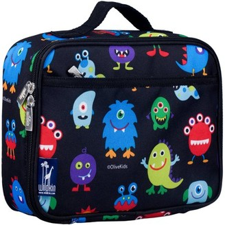 Olive Kids Monsters Black Insulated Lunch Box for Boys and Girls