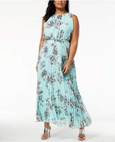 Jessica Howard Plus Size Pleated Maxi Dress