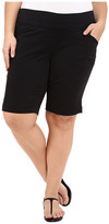 Jag Jeans Plus Size Ainsley Classic Fit Bermuda in Black Bay Twill