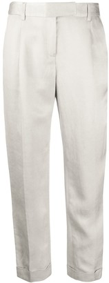 Max & Moi Tapered Cropped Trousers