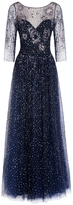 Notte by Marchesa Sequinned Navy Dress