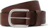 J.Crew 3.5cm Brown Auster Arrowhead Leather Belt - Brown