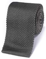 Charles Tyrwhitt Grey Silk Slim Knitted Classic Tie