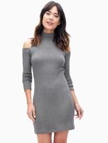 Splendid Cold Shoulder Waffle Knit Dress