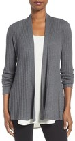 Eileen Fisher Tencel ® Lyocell Blend Drape Front Cardigan (Regular & Petite)