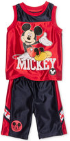 Nannette 2-Pc. Mickey Mouse-Print Tank Top & Shorts Set, Toddler & Little Boys (2T-7)