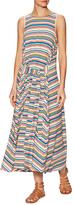 Plenty by Tracy Reese Flyaway Stripe Cotton Midi Dress