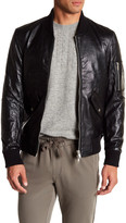 Slate & Stone Zip Pocket Leather Bomber Jacket