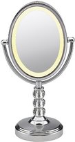 Conair Oval Crystal Ball Accent Mirror, Polished Chrome Finish