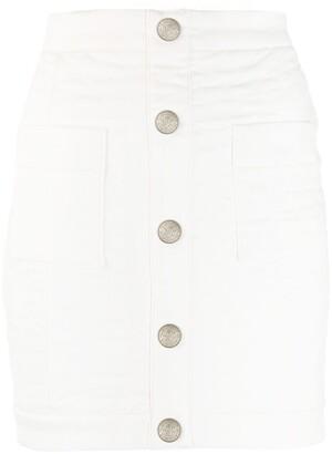 Balmain Mini High-Waisted Quilted Skirt