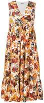 MSGM floral print wrap maxi dress