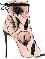Giuseppe Zanotti Design June booties - women - Calf Leather/Leather/Suede - 36