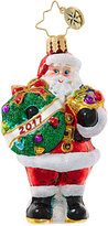 Christopher Radko Holly Jolly Year 2017 Little Gem Ornament