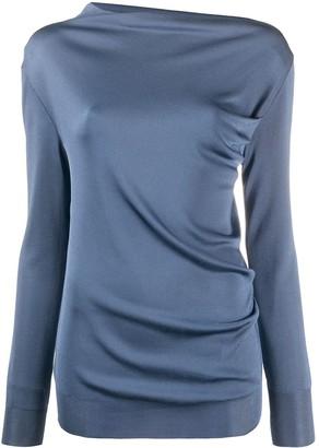 Nina Ricci Fitted Draped Effect Sweatshirt