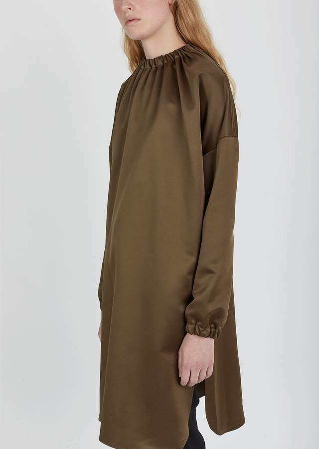 Dusan Dušan Elastic Collar Long Tunic Tobacco Size: X-Small