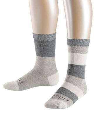Esprit Block Stripe 2-Pack Socks - 80% Cotton, (Storm 3820), (Manufacturer size: 27-30), Pack of 2