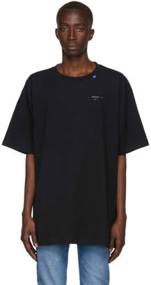Off-White Black and Silver Oversized Unfinished T-Shirt