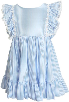 Popatu Stripe Pinafore Dress