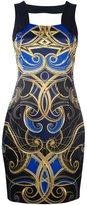 Versace ornate print mini dress - women - Polyester/Spandex/Elastane/Acetate - 40