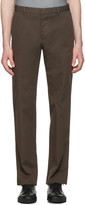 Jil Sander Brown Twill Morris Trousers