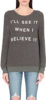 Wildfox Couture If You Believe It jersey sweatshirt