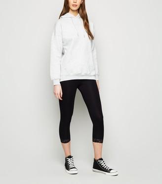 New Look Lace Trim Mid Length Leggings