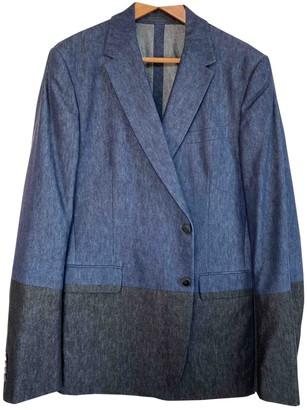 Valentino Navy Cotton Suits