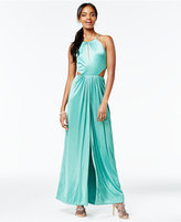 Crystal Doll Juniors' Halter A-Line Gown