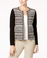 Charter Club Textured Metallic Cardigan, Created for Macy's
