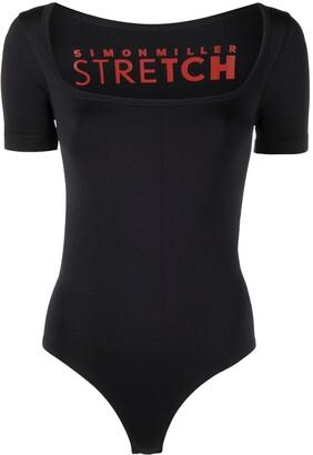 Simon Miller Square-Neck Short-Sleeved Bodysuit