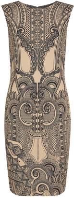 Roberto Cavalli Multi-Print Ruffle Dress