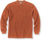 L.L. Bean Mini-Waffle-Knit Shirt, Henley