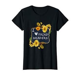 Womens Sunflower Third Grade Teacher Shirt Cute 3rd Grade School T-Shirt