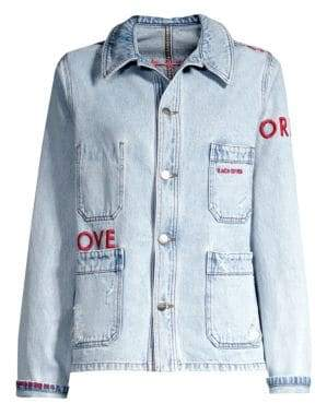Each X Other Embroidered Denim Jacket
