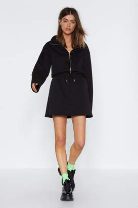 Nasty Gal Womens Zip 'Em into Shape Drawstring Dress - black - 10