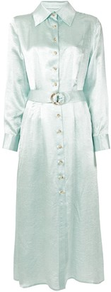ANNA QUAN Adela belted shirt dress